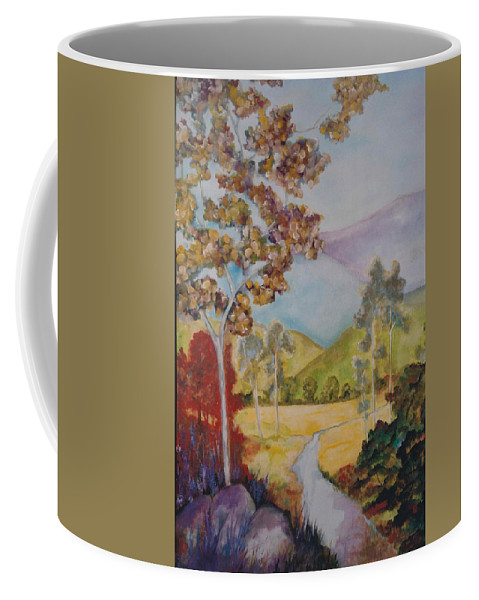 Valley Coffee Mug featuring the painting The Valley by Lord Frederick Lyle Morris