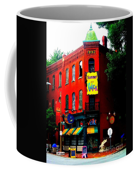 Coffee Mug featuring the photograph The Venice Cafe' Edited by Kelly Awad