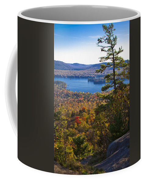 Adirondack's Coffee Mug featuring the photograph The View From Bald Mountain - Old Forge New York by David Patterson