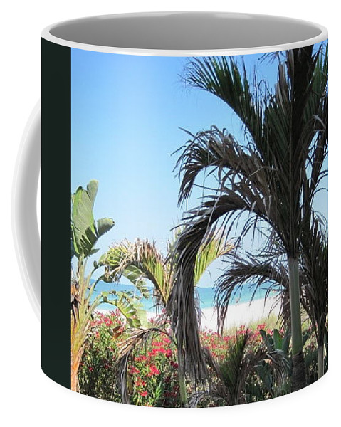 Palms Coffee Mug featuring the photograph The View Of Paradise by Megan Cohen