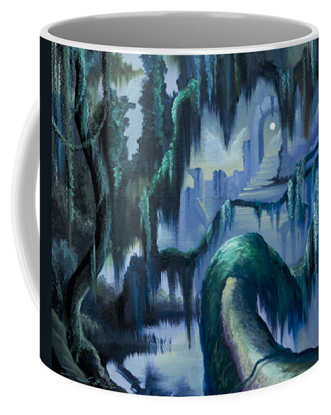 Fantasy Coffee Mug featuring the painting The Vine And The Alter by James Christopher Hill
