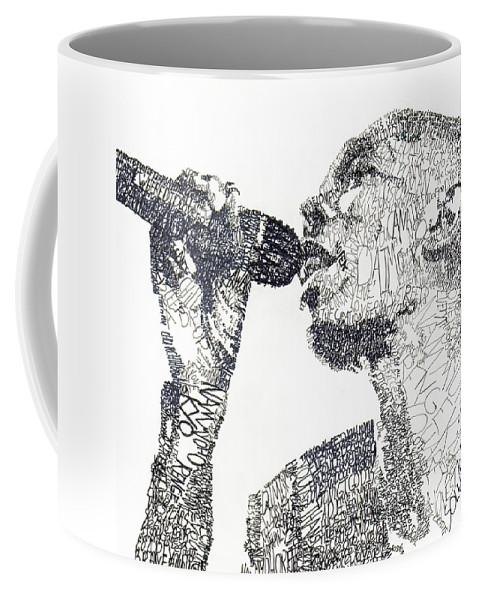 Singer Coffee Mug featuring the drawing Maxi Jazz by Michael Volpicelli