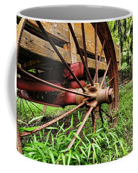 Paul Ward Coffee Mug featuring the photograph The Wagon Wheel by Paul Ward