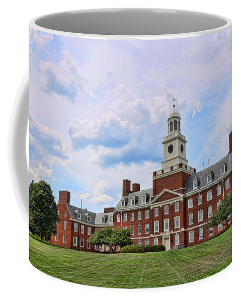 Rutgers Coffee Mug featuring the photograph The Waksman Institute Of Microbiology by Allen Beatty