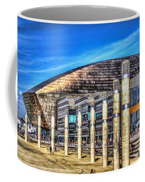 Cardiff Bay Coffee Mug featuring the photograph The Wales Millennium Centre by Steve Purnell