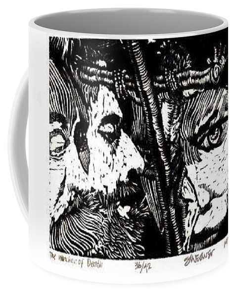 Spectators At The Crucifiction Of Jesus Christ Coffee Mug featuring the relief The Watchers Of Death by Seth Weaver