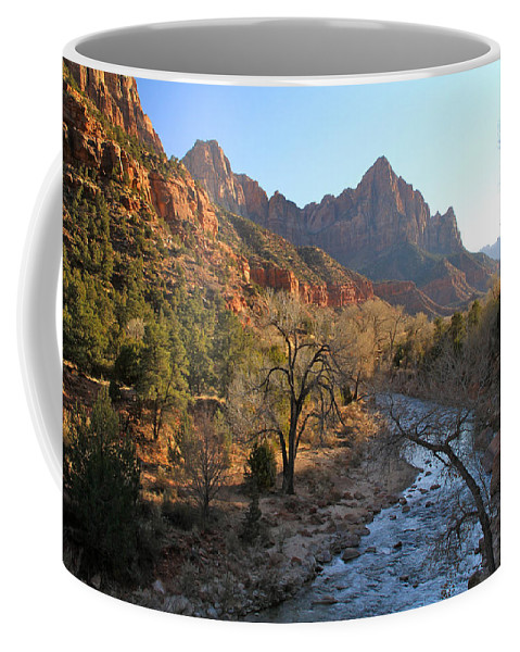 Mountains Coffee Mug featuring the photograph The Watchman by Ed Riche