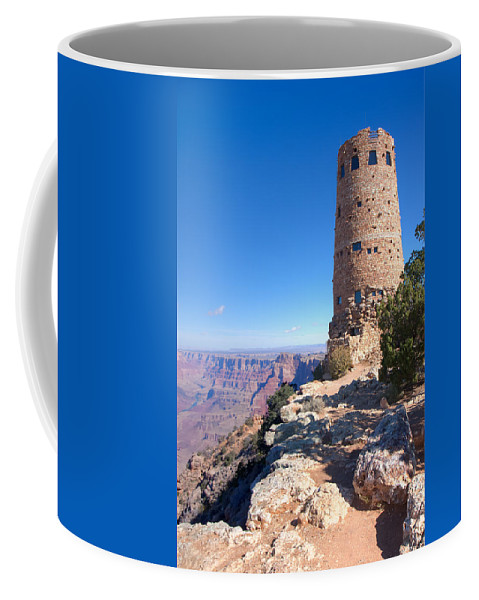 Grand Canyon National Park Coffee Mug featuring the photograph The Watchtower by John M Bailey