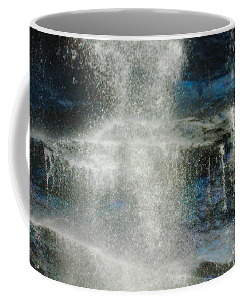 Amicalola Coffee Mug featuring the photograph The Water Blue by Jost Houk