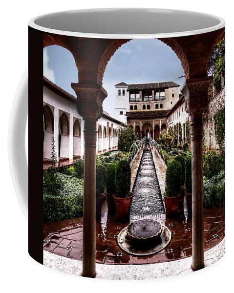 Alhambra Coffee Mug featuring the photograph The Water Gardens by Weston Westmoreland