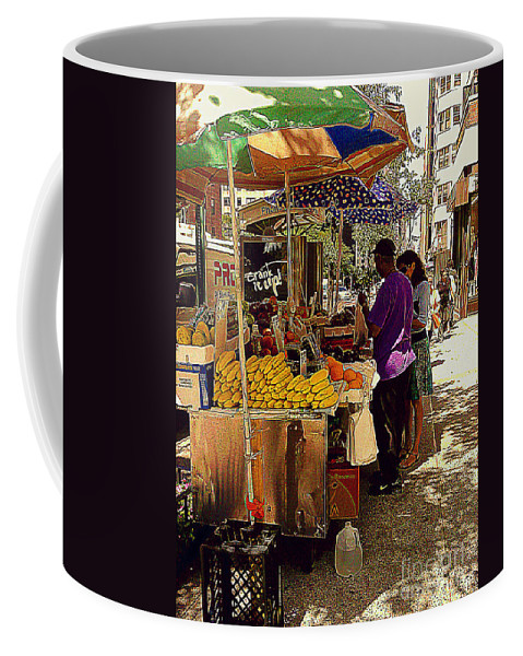 Fruitstand Coffee Mug featuring the photograph The Water Jug by Miriam Danar