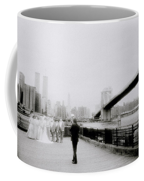 New York Coffee Mug featuring the photograph The Wedding by Shaun Higson