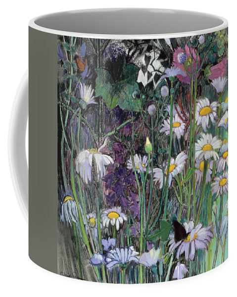 Flower Coffee Mug featuring the painting The White Garden by Claire Spencer