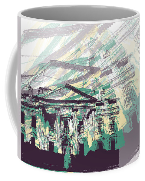 Graphic Design Coffee Mug featuring the digital art The White House by Phil Perkins