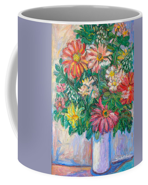 Still Life Coffee Mug featuring the painting The White Vase by Kendall Kessler