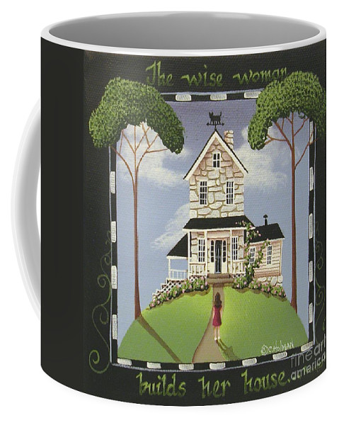 Art Coffee Mug featuring the painting The Wise Woman by Catherine Holman