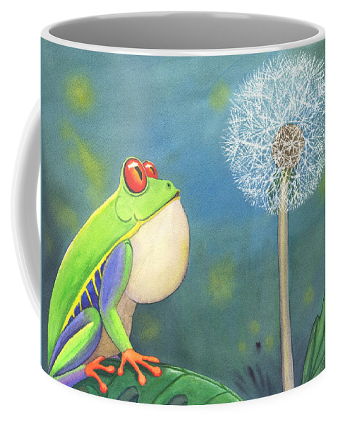 Frog Coffee Mug featuring the painting The Wish by Catherine G McElroy