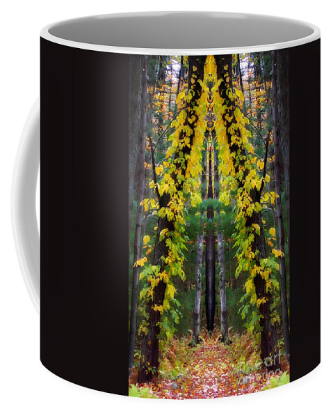 Tree Coffee Mug featuring the photograph The Wishbone Tree by Mike Nellums