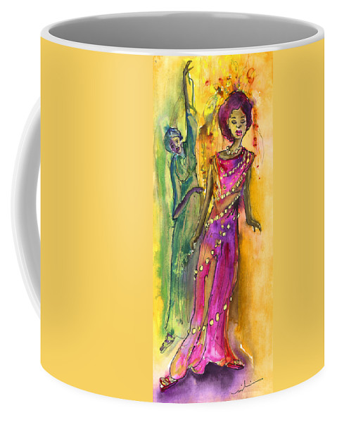 Travel Coffee Mug featuring the painting The Witches From Las Palmas by Miki De Goodaboom