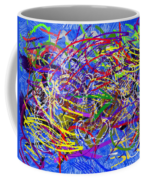 Abstract Coffee Mug featuring the digital art The Writing On The Wall 26 by Tim Allen