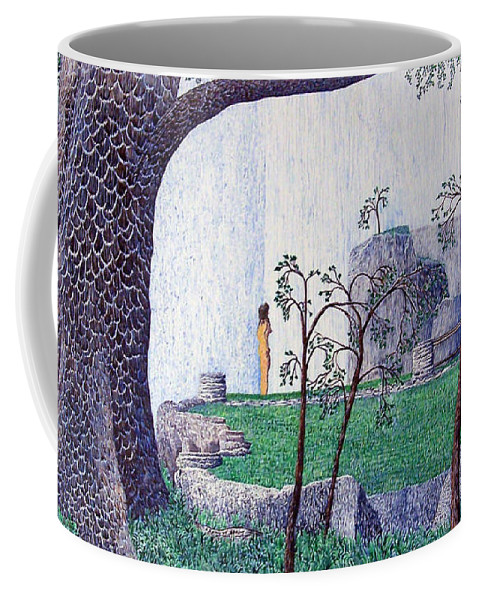 Landscape Coffee Mug featuring the painting The Yearning Tree by A Robert Malcom