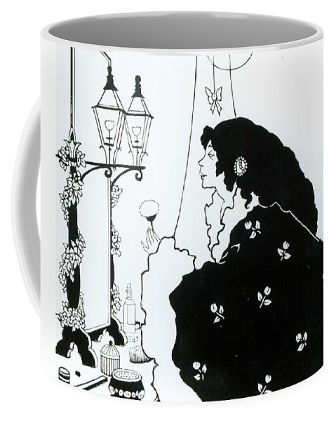 Aubrey Coffee Mug featuring the painting The Yellow Book by Aubrey Beardsley