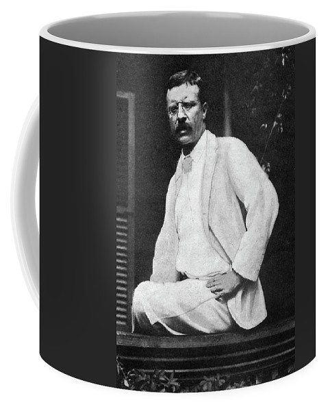 1901 Coffee Mug featuring the photograph Theodore Roosevelt (1858-1919) by Granger