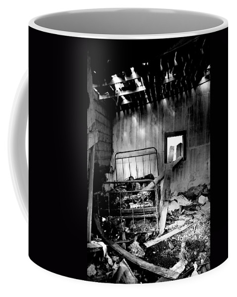 Bed Coffee Mug featuring the photograph These Fire Walls by The Artist Project