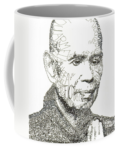 Compassion Coffee Mug featuring the drawing Thich Nhat Hanh by Michael Volpicelli