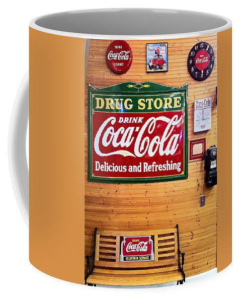 Coca Cola Coffee Mug featuring the photograph Things Go Better With Coke by Denise Mazzocco