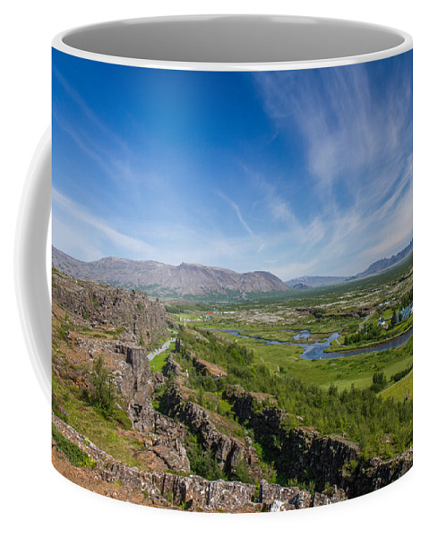 First Golden Circle Coffee Mug featuring the photograph Thingvellir Iceland by For Ninety One Days