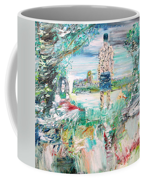 Man Coffee Mug featuring the painting Third Stone From The Sun by Fabrizio Cassetta