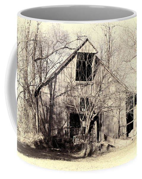 Barn Coffee Mug featuring the photograph This Old Barn by Cricket Hackmann