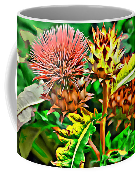 Flower Coffee Mug featuring the photograph Thorny by Alice Gipson