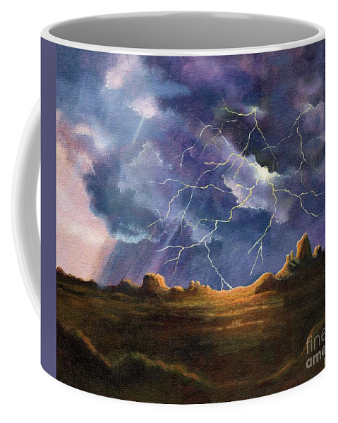 Thor's Fury Coffee Mug featuring the painting Thor's Fury by Marilyn Smith