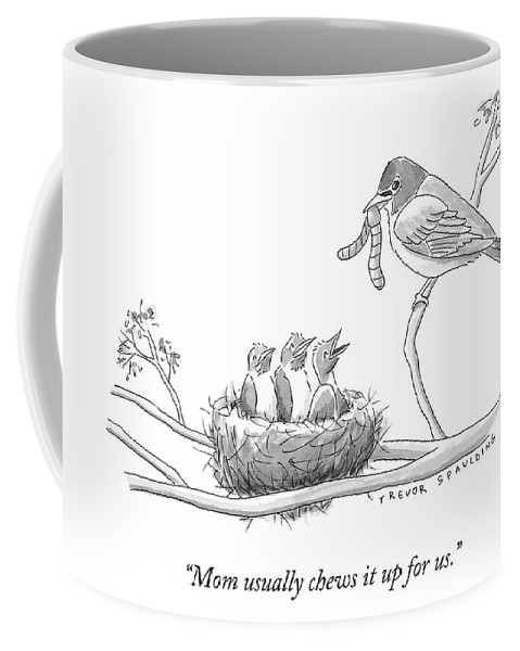 Mug Birds Three Talk Baby In A Grown Bird To Coffee Nest OTPZkwlXiu