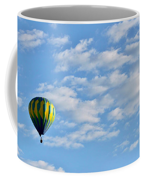 Leisure Coffee Mug featuring the photograph Three Beautiful Balloons In Cortez by Janice Pariza