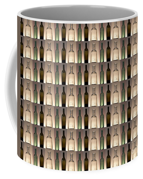 Graphic Design Coffee Mug featuring the digital art Three Bottles Collage by Phil Perkins