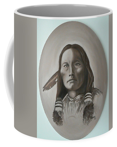 Michael Coffee Mug featuring the painting Three Fingers by Michael TMAD Finney
