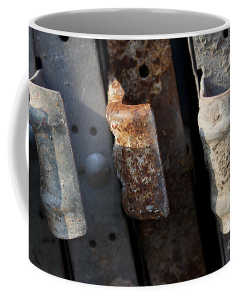 Rust Coffee Mug featuring the photograph Three Shades Of Rust by Donato Iannuzzi