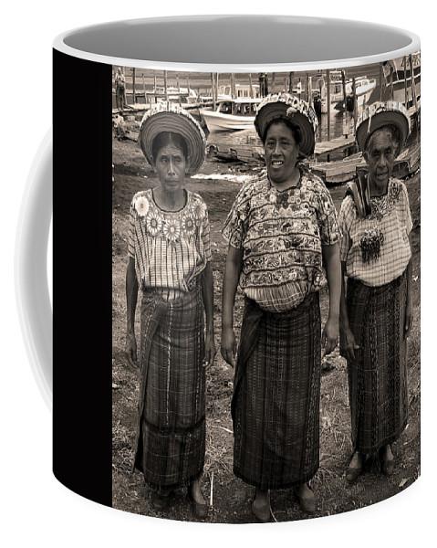Atitlan Coffee Mug featuring the photograph Three Women In Atitlan by RicardMN Photography