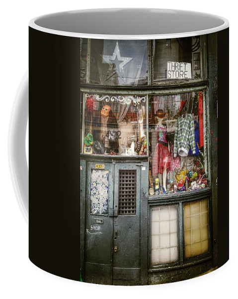 Street Coffee Mug featuring the photograph Thrift Store Shop by The Artist Project