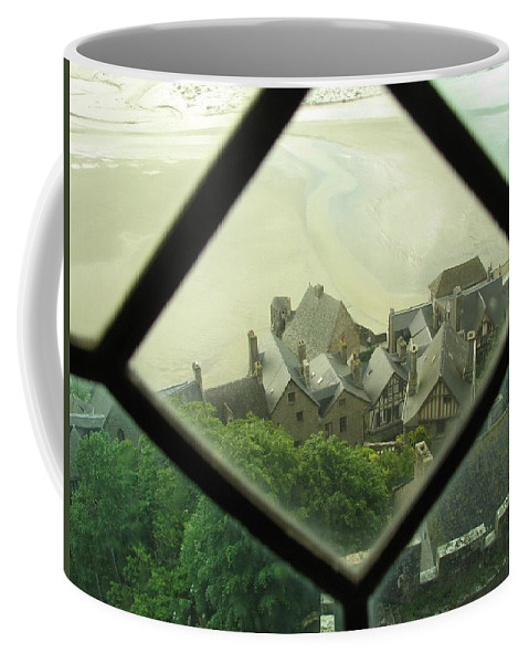 Le Mont St-michel Coffee Mug featuring the photograph Through A Window To The Past by Mary Ellen Mueller Legault