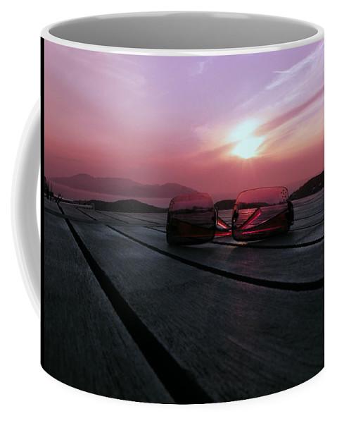 Through Rose Coloured Glasses Coffee Mug featuring the photograph Through Rose Coloured Glasses by Micki Findlay
