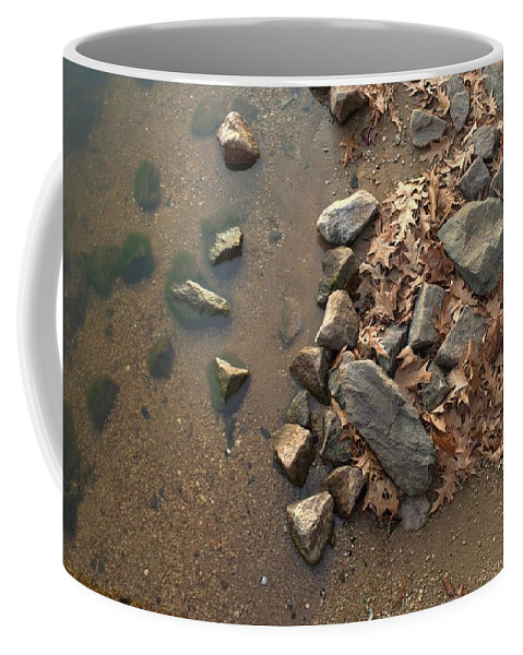 Popular Coffee Mug featuring the photograph Through The Rocks To The Lake by Paulette B Wright