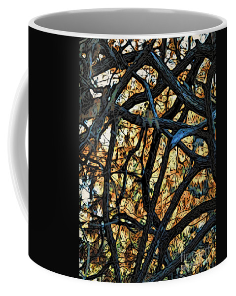 Trees Coffee Mug featuring the photograph Through The Trees by Jacklyn Duryea Fraizer