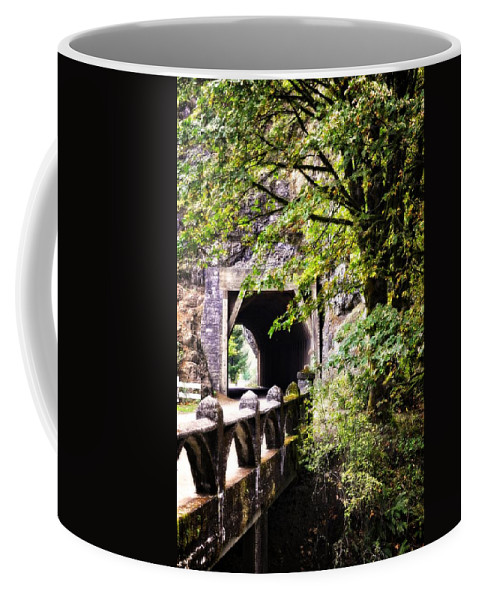 Multnomah Scenic Route Coffee Mug featuring the photograph Through The Tunnel by Image Takers Photography LLC - Laura Morgan