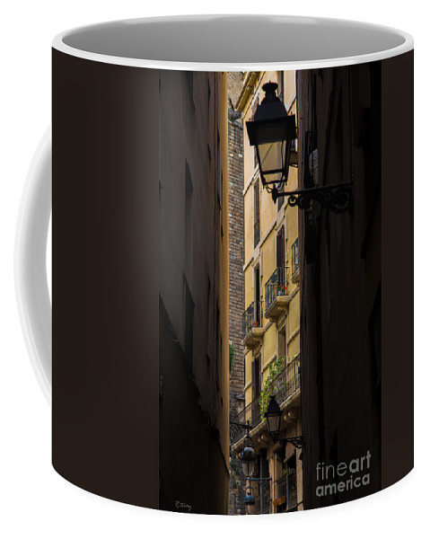 Architecture Coffee Mug featuring the photograph Thru The Narrow Alley by Rene Triay Photography