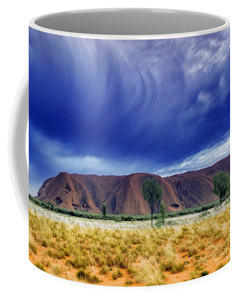 Landscapes Coffee Mug featuring the photograph Thunder Rock by Holly Kempe