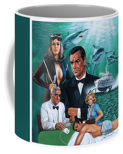 Portrait Coffee Mug featuring the painting Thunderball by Dick Bobnick